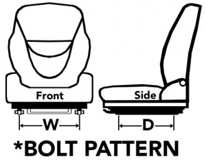 Forklift Replacement Seat Bolt Pattern Diagram