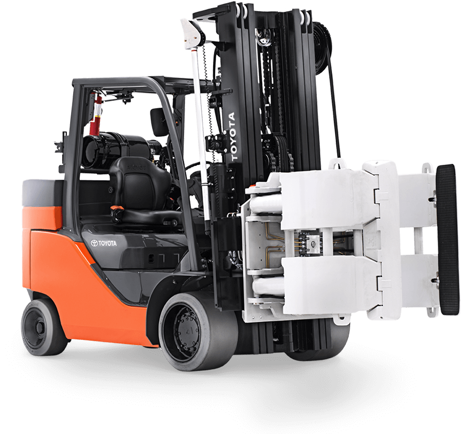 Toyota's paper roll special forklift.