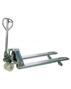"""Stainless Steel Pallet Truck 27""""Wx48""""L"""
