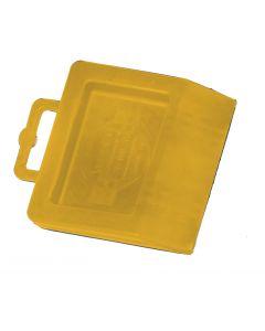 Pallet Jack Chock Yellow Hard Rubber