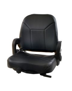 """SY1452 H O BOSTROM Suspension Forklift Seat Vinyl (Nissan, Yale) 24 2/5""""Hx23""""Wx21""""D"""