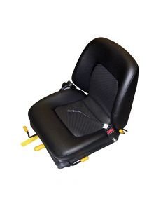 "SY1502-SW-SB TOTAL SOURCE Suspension Forklift Seat Vinyl with Seat Switch (Clark, Cat, Hyster, Mitsubishi, Toyota, Yale) 22""H x19""W x 21 3/4""D"