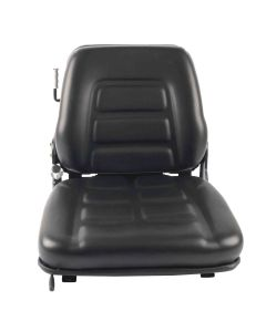 """SY1535 TOTAL SOURCE Suspension Forklift Seat Vinyl (Clark, Crown, Hyster, Jungheinrich, Komatsu, Linde, Nissan, Raymond, Toyota, Yale) 19 37/100""""Hx18 9/10""""Wx20 2/25""""D (SY1535)"""