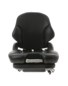 "SY1550 GRAMMER Suspension Forklift Seat Vinyl (Crown, Hyster) 22 18/25""Hx18 1/2""Wx22 13/100""D"