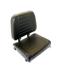 "SY1834 SUPERIOR Forklift Seat Vinyl (Cat, Mitsubishi, Toyota) 20""Hx19 1/2""Wx17""D"