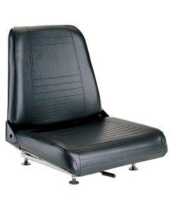 "SY1875 GR SEATING Forklift Seat Vinyl (Barrett, Cat, Hyster, Mitsubishi, Toyota, Yale) 17 1/2""Hx18 3/4""Wx21""D"