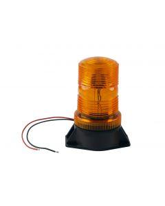 LED STROBE LIGHT 12-80 VDC AMBER PERMANENT MOUNT  sy361005-a-bot-e