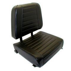 "SY1833 SUPERIOR Basic Forklift Seat Vinyl (Cat, Hyster, Mitsubishi, Toyota, Yale) 20""Hx19 1/2""Wx17""D"