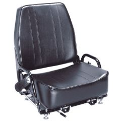 "SY1935 SUPERIOR Universal Forklift Seat Vinyl (Crown, TCM, Toyota) 22 1/2""Hx20""Wx23 3/4""D"