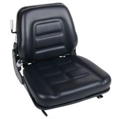"""SY1960 TOTAL SOURCE Suspension Forklift Seat Vinyl with Seat Switch (Clark, Hyster, Jungheinrich, Komotsu, Linde, Raymond, Toyota, Yale) 19 37/100""""Hx18 9/10""""Wx20 2/25""""D"""