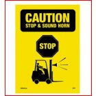 Stop and Sound Horn Sign