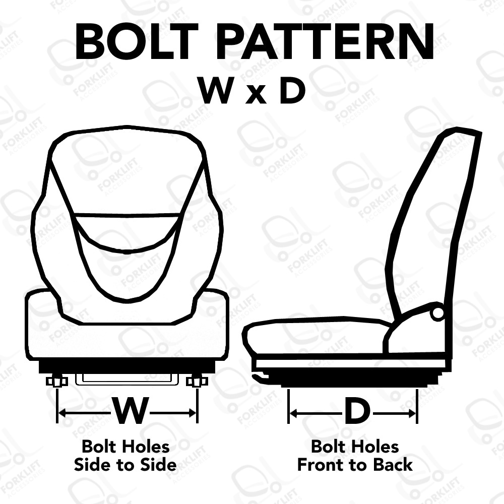 Forklift Replacement Seat Bolt Patterns